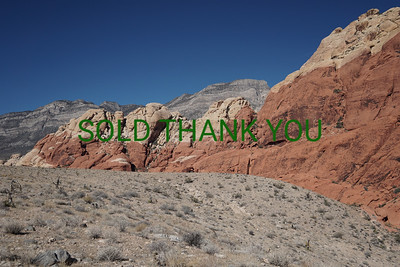 Red Rock Canyon - Framed Card $5