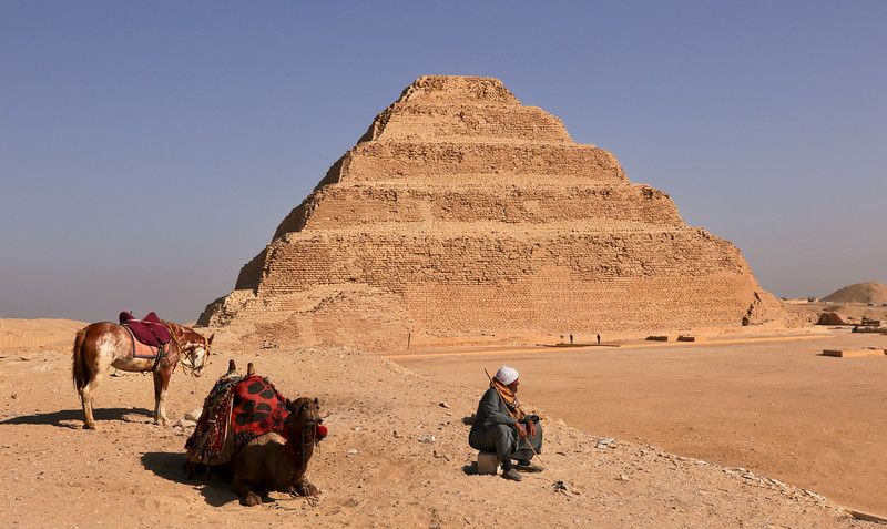 The Pyramid of Djoser also known as Step Pyramid is the first Egyptian pyramid and is the oldest confirmed pyramid in the world still intact. Built: c.2667 – 2648 BC