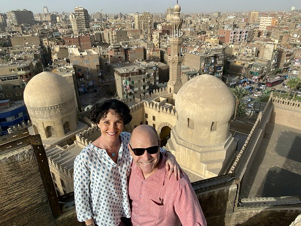 Atop the minaret of the Mosque of Ibn Tulun