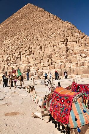The Great Pyramid of Giza (also known as the Pyramid of Khufu) is the oldest and largest of the three main pyramids in the Giza complex. Constructed from 2580–2560 BC!! I'll do the math for ya... 4,600 YEARS old!!!