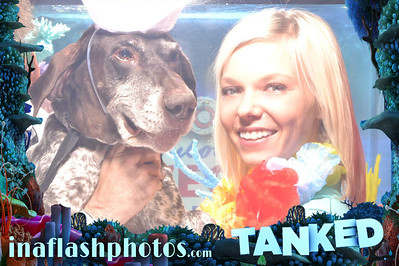 Tanked on Animal Planet teams up with In A Flash Photos to bring you another worlds first: The Photo Booth Aquarium. It looks like it's shot through water because it was :)  ©INAFLASHPHOTOS.com INTERACTIVE PHOTO EXPERIENCE™