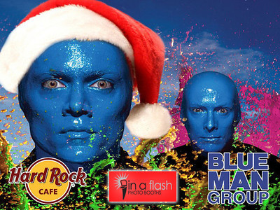 HARD ROCK CAFE® BLUE MAN GROUP®  ©INAFLASHPHOTOS INTERACTIVE PHOTO EXPERIENCE™