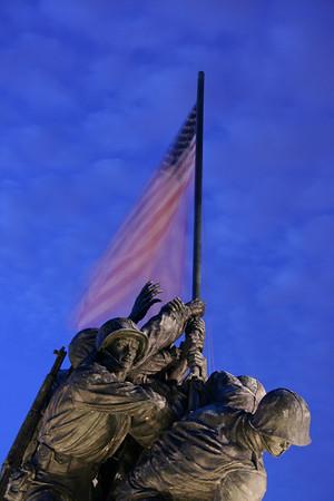 Iwo Jima at night