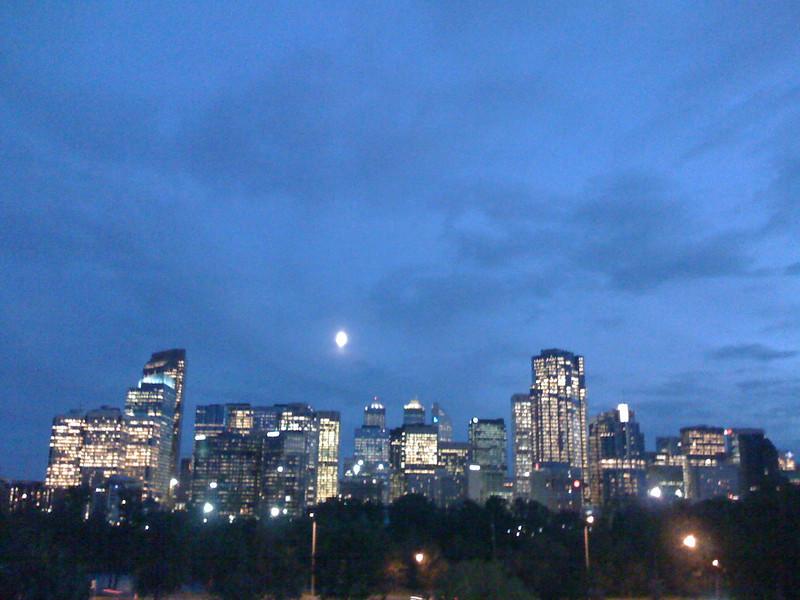Centre ville de noche.