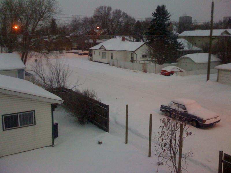 Desde mi habitacion en invierno
