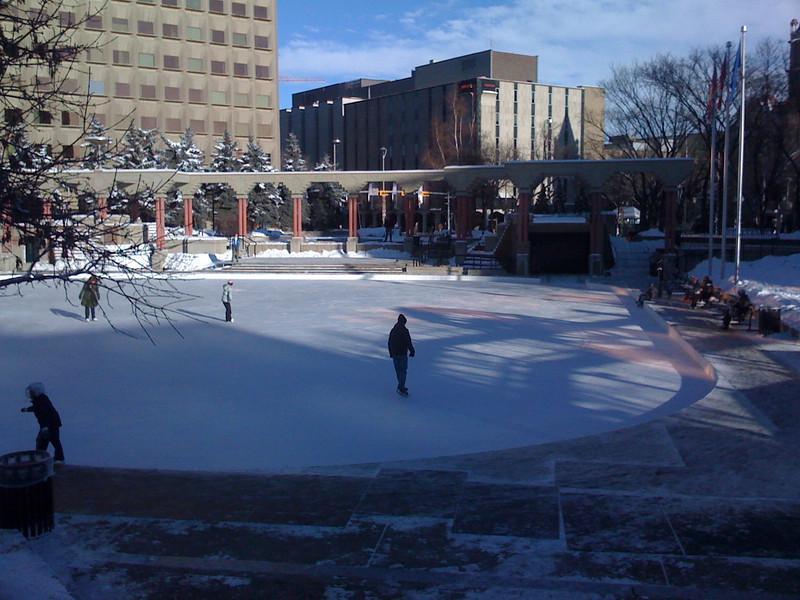 Dec. 31 2008, Calgary's Olympic Plaza