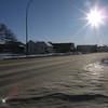 Center Street (la gran arteria) helada
