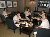 Taking over the club lounge: Idigul, Chi, Lulu,Min and Sadeta.