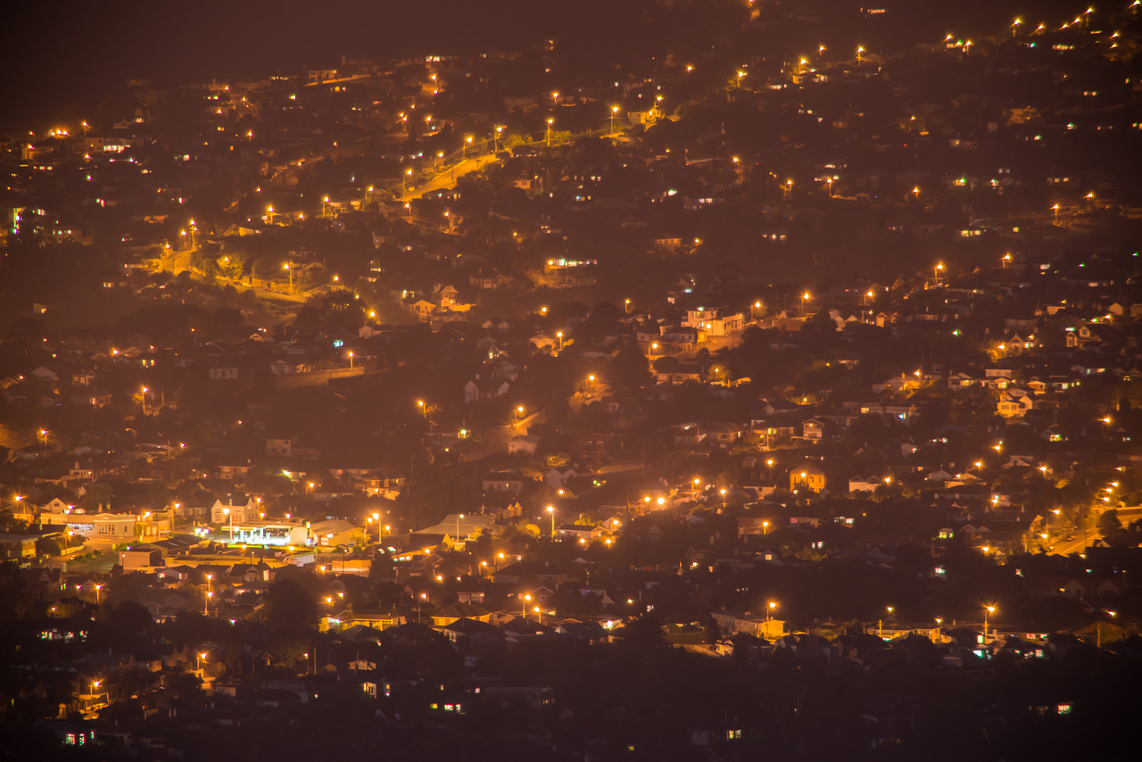 Dunedin by night, from Flagstaff