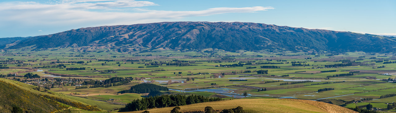 The Taieri Plains and the Maungatua Range from Scroggs Hill