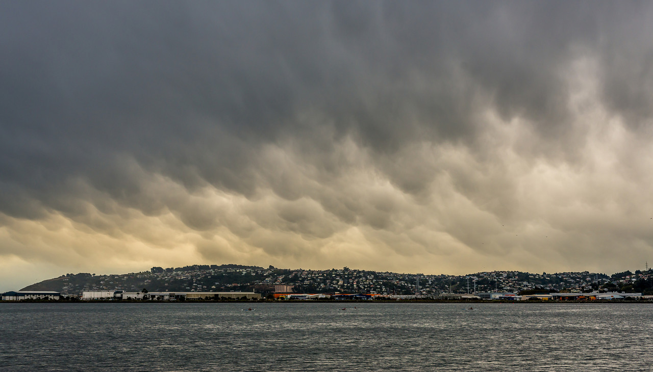 Mammatus clouds (mammatocumulus), Dunedin