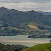 View from Mount Charles: Otago Harbour, Sawyers Bay and Mount Cargill
