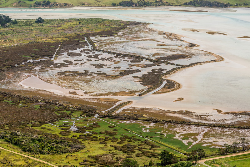 View from the slopes of Mount Charles: Hoopers Inlet