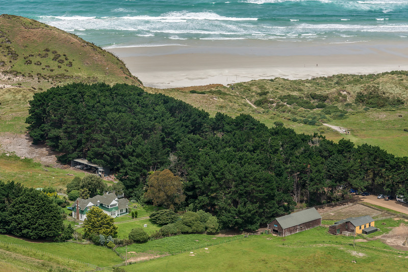 View from the slopes of Mount Charles: Belmont, Allans Beach