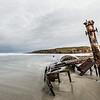 The shipwreck of the whaler Hananui II. Ryans Beach, Otago Peninsula
