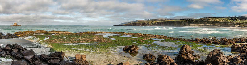 At the eastern end of Sandfly Bay. Seal Point at centre image