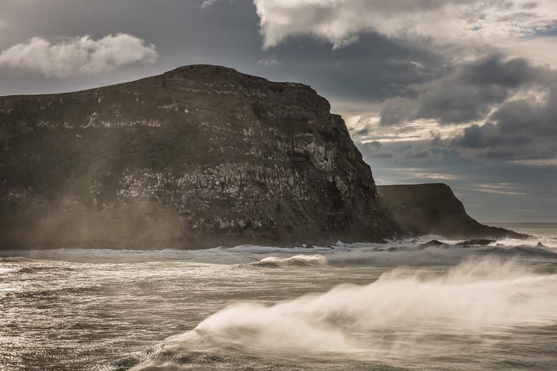 View of Quion Cliff from Te Whakarekaiwi