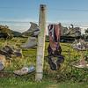 Lake Waihola shoe fence