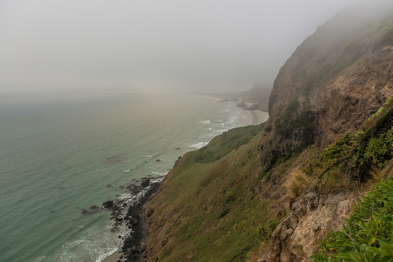 Looking down onto Aramoana Beach from the top of Jacob's Ladder