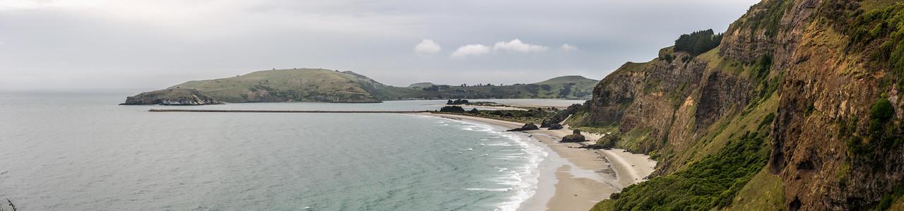 View of Aramoana Beach from Heyward Point