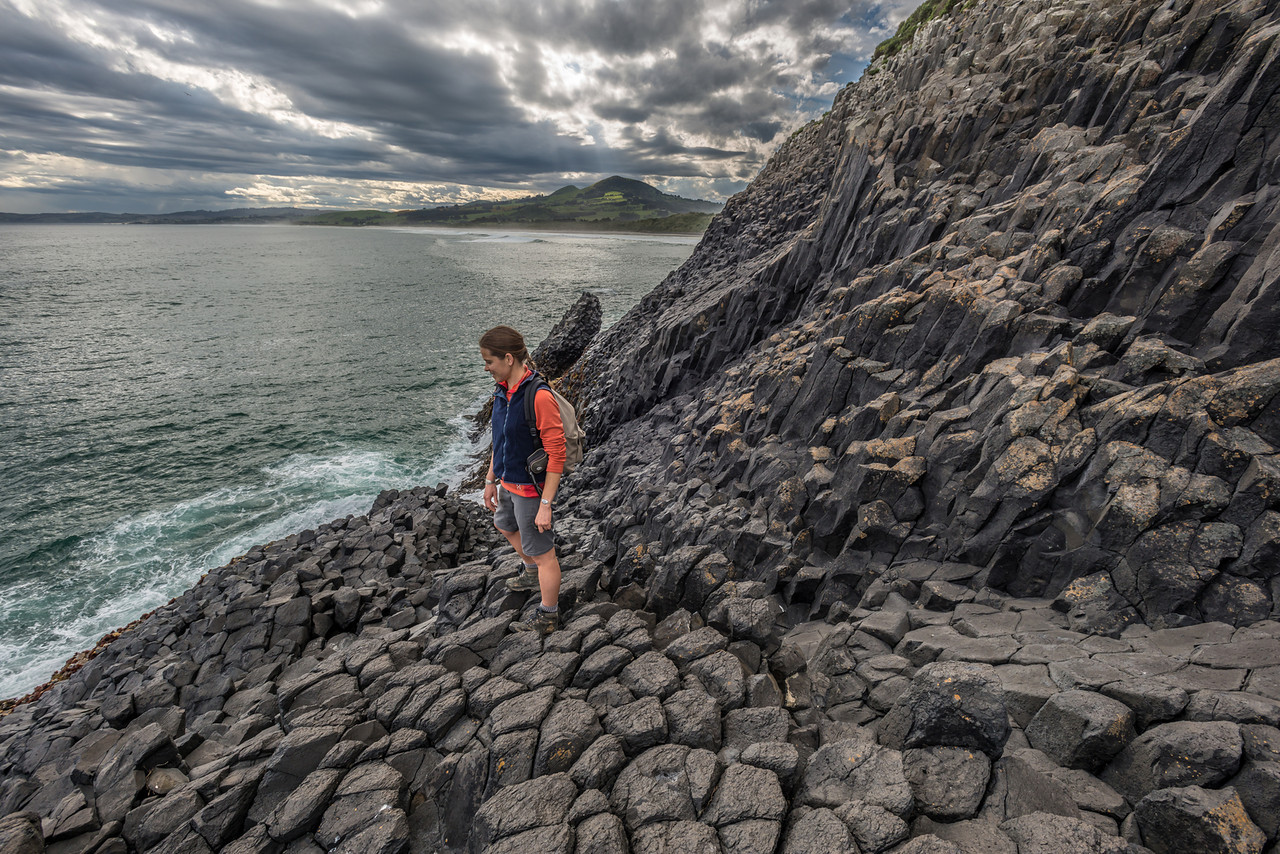 Basalt formations at Black Head