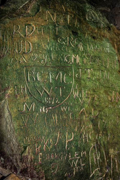 Early visitors to the cave - 1872. This is the oldest inscription I could find