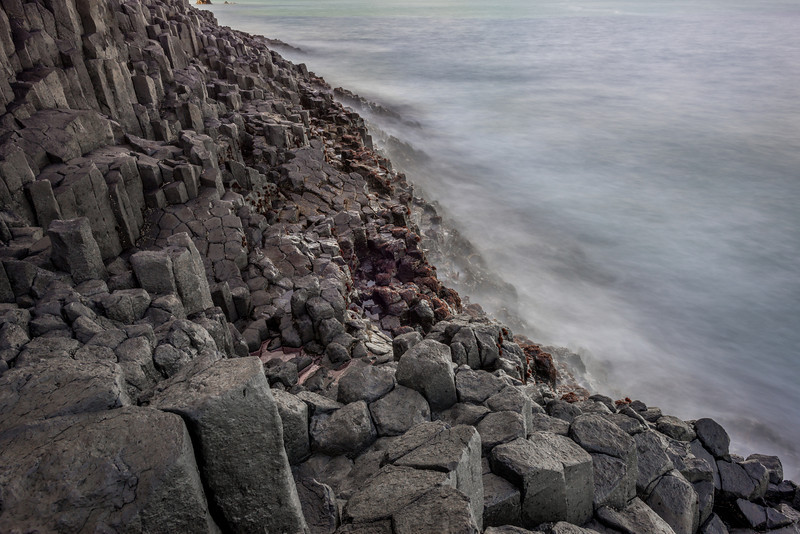 Basalt terraces at Black Head, Dunedin