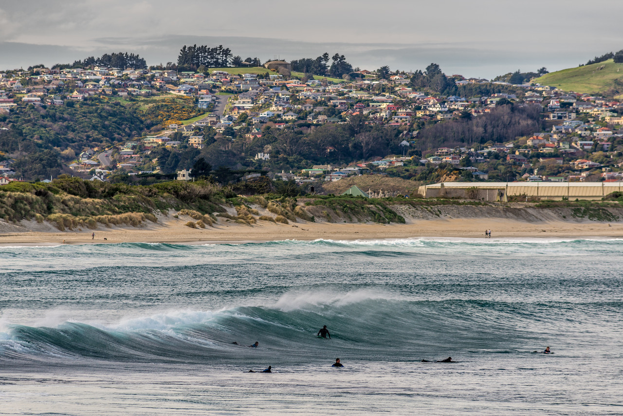 Surfers at St Clair Beach