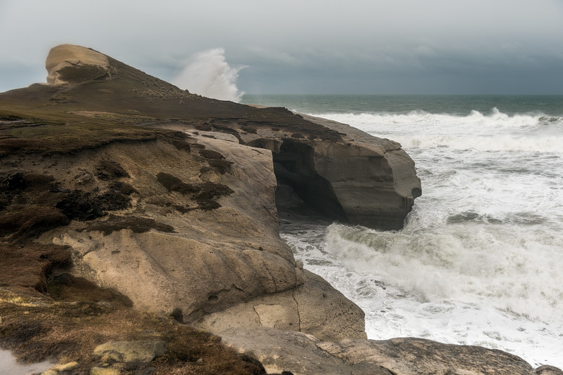 Tunnel Beach in a storm - 21