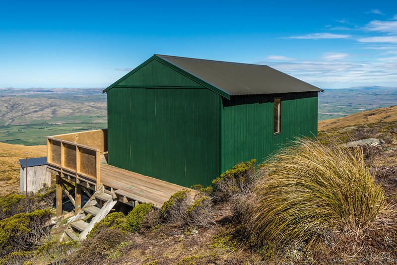 The new Leaning Lodge Hut