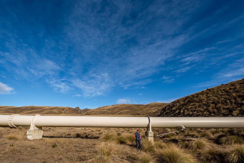 Dunedin's water supply pipeline