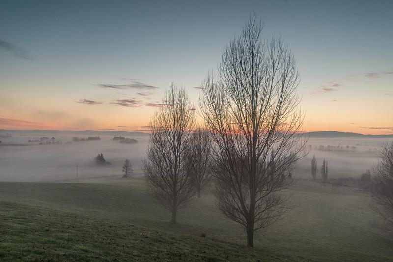 Early morning fog over Berwick