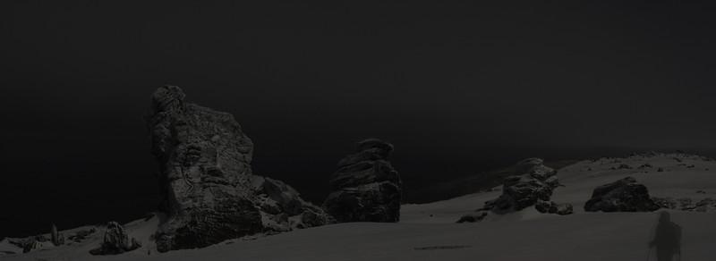 Rock and Pillar Summit Rocks by night