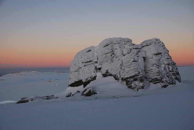 Rock and Pillar Summit Rocks at dawn