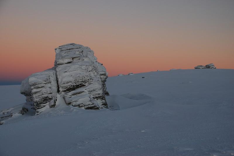 Rock and Pillar Summit Rocks at dawn