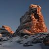 Rock and Pillar Summit Rocks at sunrise