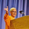 Revered American poet and civil rights activist Nikki Giovanni shared stories, poetry and wisdom in the Church Street Center of the Massachusetts College of Liberal Arts on Wednesday, June 12. She was featured as the keynote speaker of the first four-day Diversity, Equity and Inclusion Conference at the North Adams institution. JENN SMITH — THE BERKSHIRE EAGLE