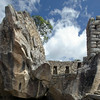 The Temple of the Condor in Machu Picchu.  A natural rock formation the the Incan stonemasons skillfully shaped the rock into the outspread wings of a condor in flight.<br /> <br /> Machu Picchu, Cusco Region, Urubamba Province, Peru.