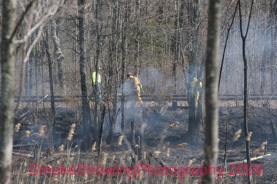 Mutual Aid to Leominster Brush FIre - Apr. 15, 2009
