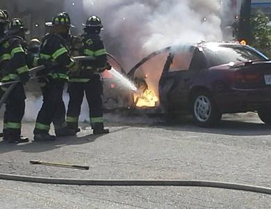 Car Fire, Rt.2 EB - 09/22/2013