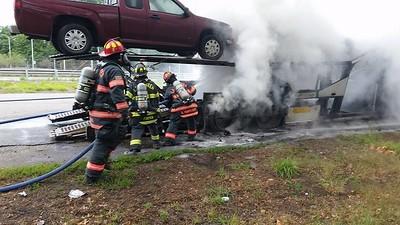 07-11-2016 Rt. 2 Car Carrier Fire