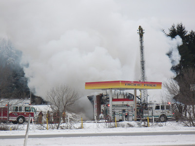 01-24-2011 - Munster Twp. Cambria County, PA. - Keystone Truck Stop Fire - Route 22 East of Ebensburg, PA.