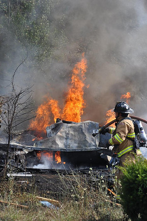 07-27-2011 Granville Twp. - Mifflin County, PA. - Residential Trailer Fire - SR 103 North at Bear Claw Hollow