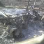 Whats left of the ATV that burned.