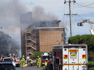 Iconic Red Castle Hotel Fire - Perth