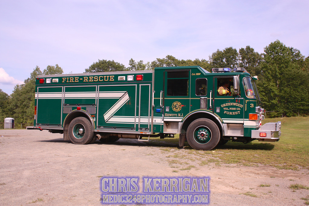 West Milford Fire Department Greenwood Forest Fire Co. 3-Hewitt,NJ Standing by at a Med-Evac LZ at Marshall Hill School. 2 MVA PT's were flown out 1 by Hackensack AirMed-1 and the other by NorthSTAR (N7NJ).