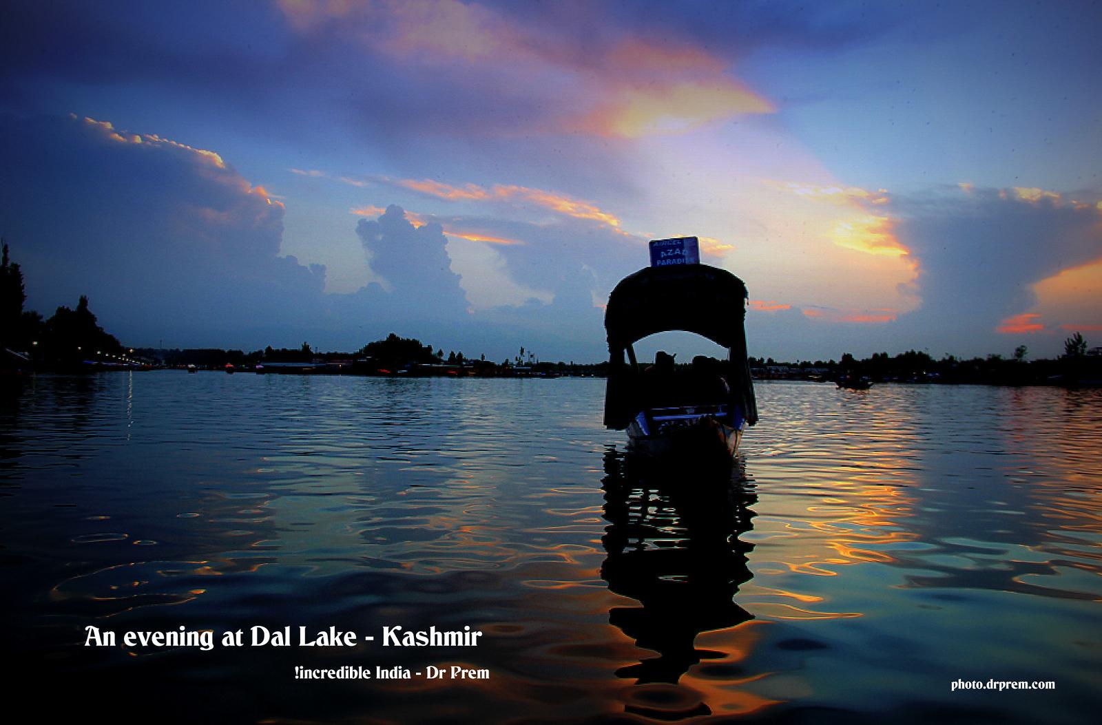 An evening at Dal Lake Kashmir