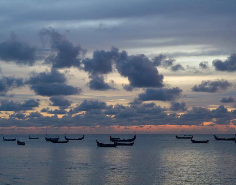 Idle Boats. Mariari Beach, India.