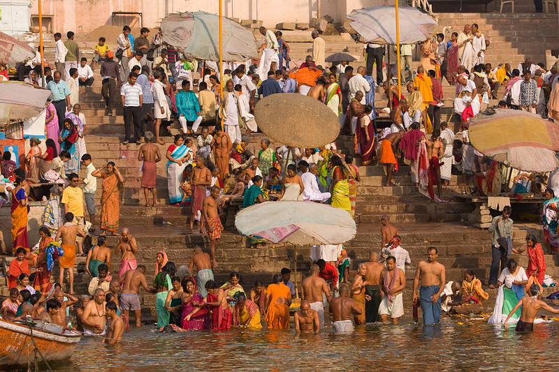 Morning at the Banks of the Ganges