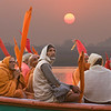 Pilgrims on the Ganges at Sunrise (digital composite)